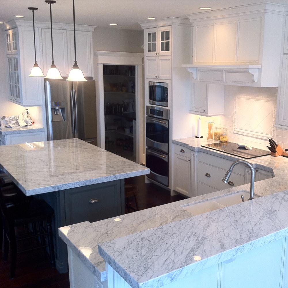 Keuken Wit Marmer : marmer-keukenblad-modern-carrara-natuursteenstunter